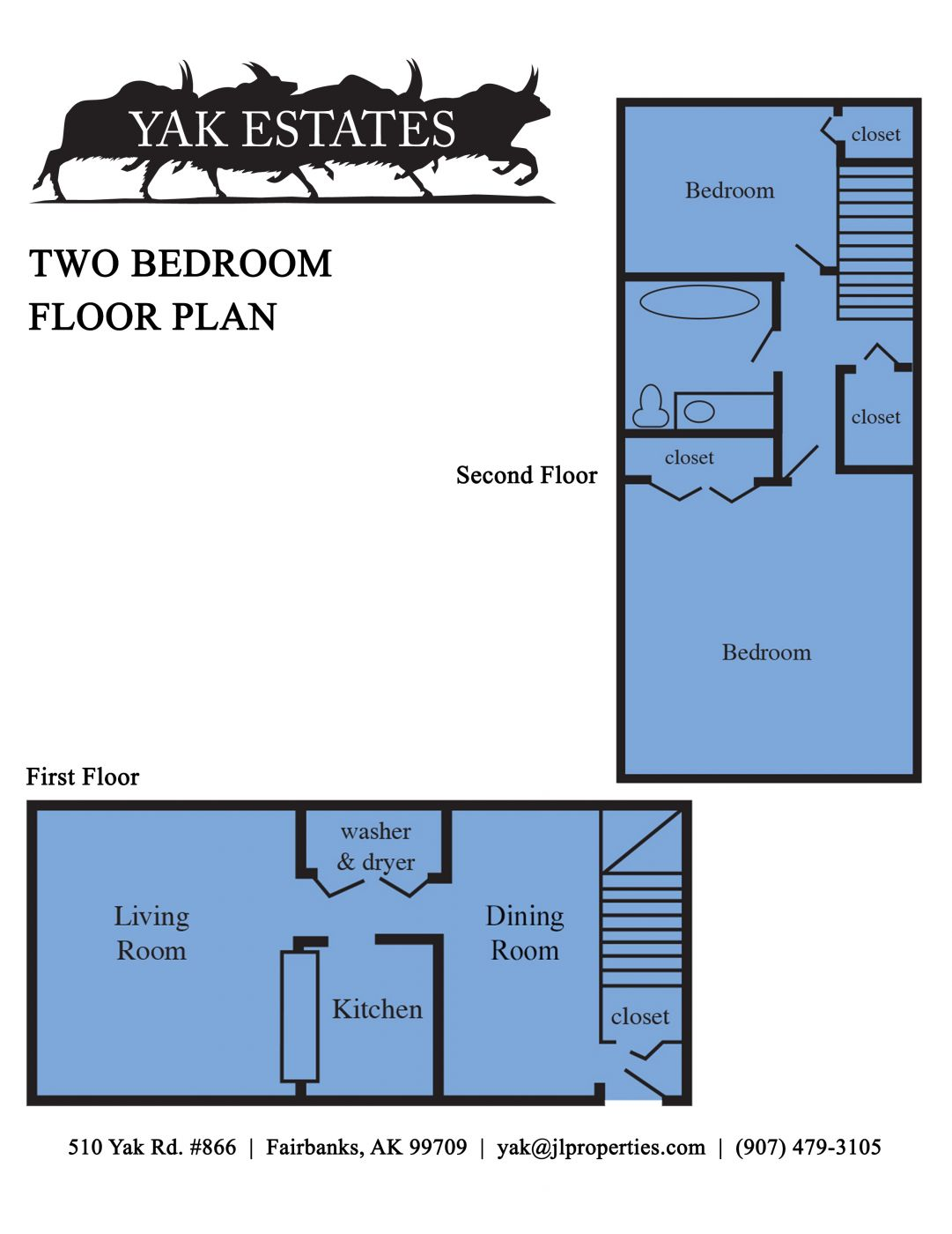 Fairbanks alaska apartments yak estates two bedroom for Floor plan websites